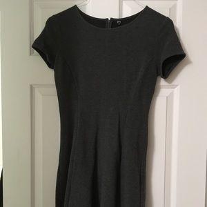 Uniqlo dark grey skater dress XS